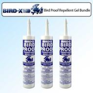 3 Pack Bird X Pigeon Bird Proof Gel Non Toxic Bird Roost Repellent 10 oz. Tube