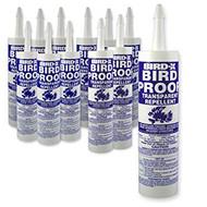 12 Pack Bird X Pigeon Bird Proof Gel Non Toxic Bird Roost Repellent 10 oz. Tube