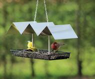 PineBush Metallic Wave Platform Bird Feeder PINE10067