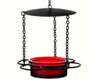Couronne Co Red Hanging Floral Bird Feeder COURM44620006