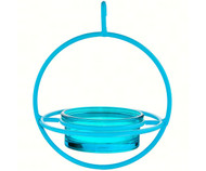 Couronne Co Blue Hanging Sphere Bird Feeder with Perch COURM047200A