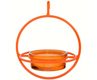 Couronne Co Orange Hanging Sphere Bird Feeder with Perch COURM047200O