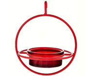 Couronne Co Red Hanging Sphere Bird Feeder with Perch COURM047200R