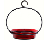 Couronne Co Red Cuban Bowl Hanging Birdbath COURM33720006