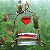 Songbird Essentials Tweet Heart Lantern Hummingbird Feeder SEHH101
