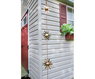 Good Directions Sunburst Pure Copper Rain Chain 8.5 ft. Collapsible Polished Copper Finish GOOD470P8