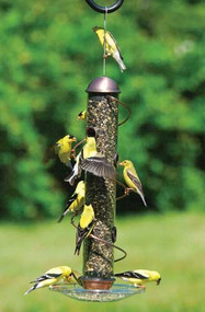 Songbird Essentials 17in. Copper Spiral Sunflowe Bird Feeder SEBQSBF3C