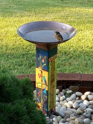 Studio M Gather Friends Birdbath With Art Pole MAILPP266