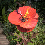 Desert Steel Poppy Garden Torch  DS409001
