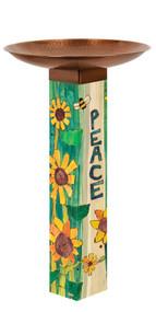Studio M Gather Peaceful Day Birdbath With Art Pole MAILBB1011