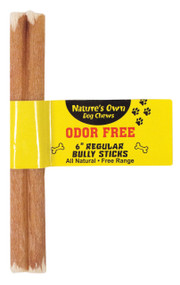 Best Buy Bones - Nature's Own Odor-free Bully Sticks Dog Chew (Case of 25 )
