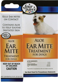 Four Paws Products Ltd - Aloe Ear Mite Treatment For Dogs