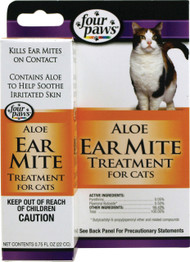 Four Paws Products Ltd - Aloe Ear Mite Treatment For Cats