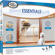 Four Paws Products Ltd - Plastic Mesh Wood Frame Gate