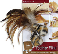 Worldwise Inc - Feather Flips Feathered Ball Cat Toy