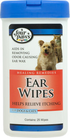 Four Paws Products Ltd - Ear Wipes For Dogs & Cats