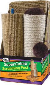 Four Paws Products Ltd - Super Catnip Carpet & Sisal Scratching Post