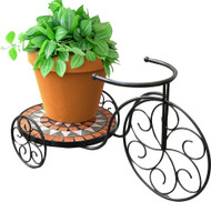 Panacea Products - Rustica Italia Mosaic Tile Tricycle Plant Stand
