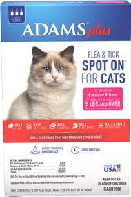 Farnam Pet - Adams Plus Flea  & Tick Spot On Cat