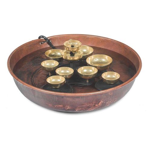 Woodstock Chimes Copper Bowl Water Bell Fountain WBF2