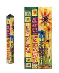 Studio M 3 Foot Love Mom Garden Art Pole