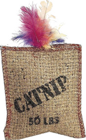 Ethical Cat - Jute & Feather Sack With Catnip