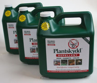 Plantskydd 3 Pack Pre-Mixed Deer Rabbit Elk Moose Repellent 1.3 gallon Ready To Use