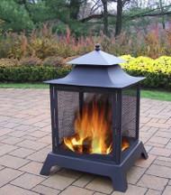 Oakland Living Fire Pits Steel Wood Burning Pagoda OAA2001
