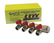 "EasyPro SS4 3/4"" Statuary splitter 4-way – 1/2"" mpt outlets EAPRSS4"