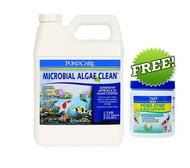 API Pond Care Pond Microbial Algae Clean Algae Control 1 Gallon + FREE PondZyme 269 C