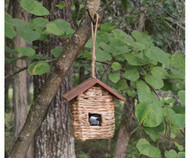 Songbird Essentials Hanging Grass Roosting Pocket with Roof SE935