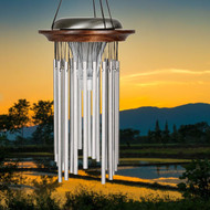 Woodstock Chimes Illumination Solar WindChime WOODISC