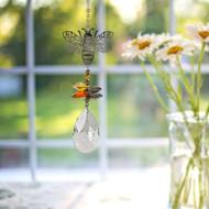 Woodstock Chimes Crystal Fantasy Bee Suncatcher CFBEE