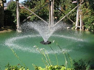 Kasco 2400VFX Floating Pond Fountain 1/2 HP With C25 Controller and 50 Ft. to 200 Ft. Power Cord Lengths