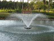 Kasco Marine 4400HVFX 1 HP, 240V, Single Phase VFX Series Decorative Pond Fountain with Float, C-85 Control Panel and 50Ft. to 400Ft. Power Cord Lengths