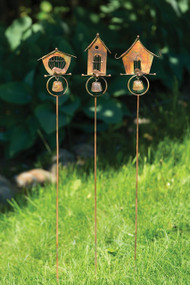 Ancient Graffiti BIRD HOUSE GARDEN DECOR STAKE, ASSORTED STYLES