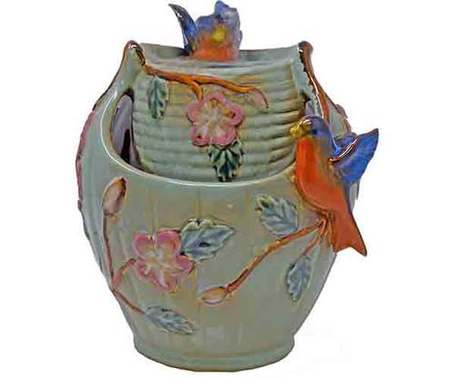 Gift Essentials  Bluebird Tabletop Ceramic Fountain GE802