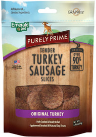 Emerald Pet Products Inc - Purely Prime Turkey Sausage Slices