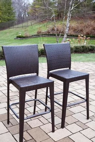 "Oakland Living All Weather Elite Resin Wicker 44"" Patio Bar Stool (Set of 4)"
