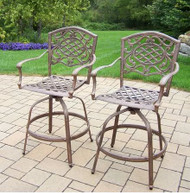 "Oakland Living Mississippi 27"" Patio Bar Stool (Set of 2) OAA2481"