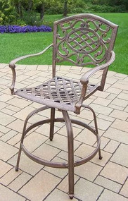 "Oakland Living Mississippi 45.75"" Patio Bar Stool OAA2482"