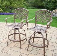 Oakland Living Mississippi Swivel Patio Bar Stool (Set of 2) OAA1652