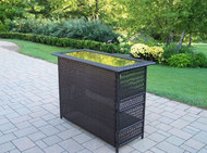 Oakland Living Elite Resin Wicker Patio Home Bar OAA1802