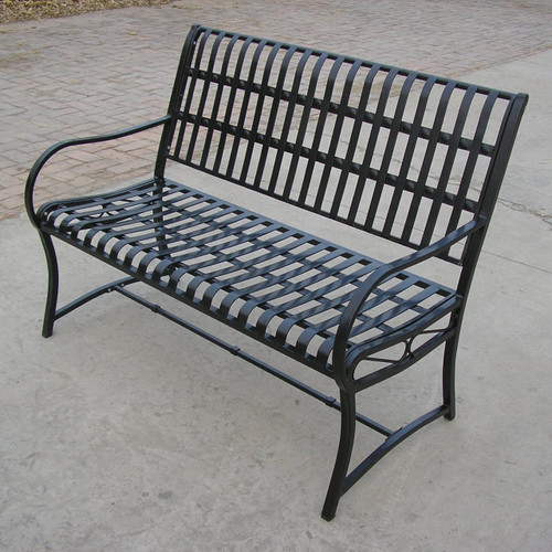 Oakland Living Noble Iron Garden Bench 6075-HB