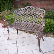 Oakland Living Tea Rose Aluminum Garden Bench