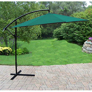 Oakland Living 10' Green Cantilever Outdoor Umbrella with Stand