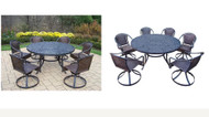 Oakland Living Mississippi 7 Piece Outdoor Patio Dining Set
