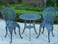 Oakland Living Palm Mississippi 3 Piece Outdoor Patio Bistro Set (2 Color Options)