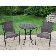 Oakland Living Stone Art 3 Piece Outdoor Patio Bistro Set