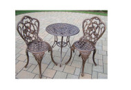Oakland Living Hummingbird 3 Piece Outdoor Patio Bistro Set